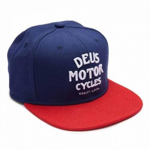 DEUS EX MACHINA MOTOR CAP - NAVY RED