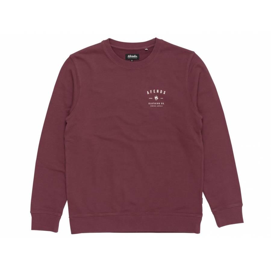 Afends Clothing Co Sweatshirt - Oxblood