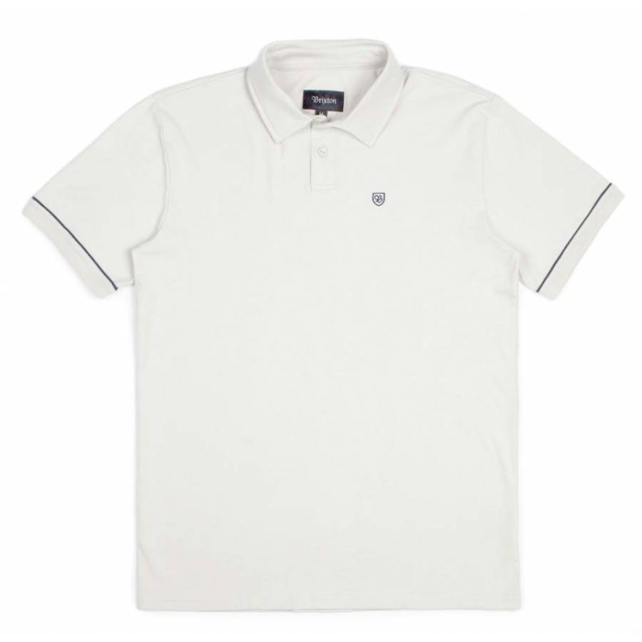 Brixton Carlos S/S Polo Knit Tee -  White / Black