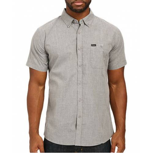 Brixton Central S/S Woven Shirt - Heather Grey
