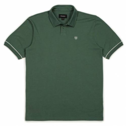 Brixton Carlos S/S Polo Knit Tee - Washed Chive