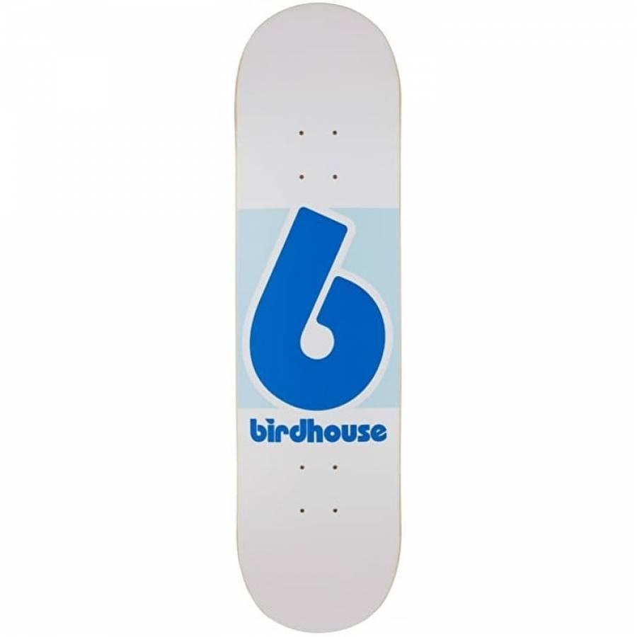 Birdhouse Block Logo Skateboard White/Blue Deck - ...