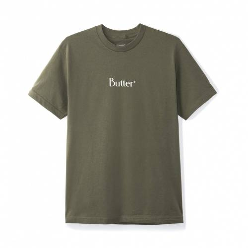Butter Goods Classic Logo Tee - Olive