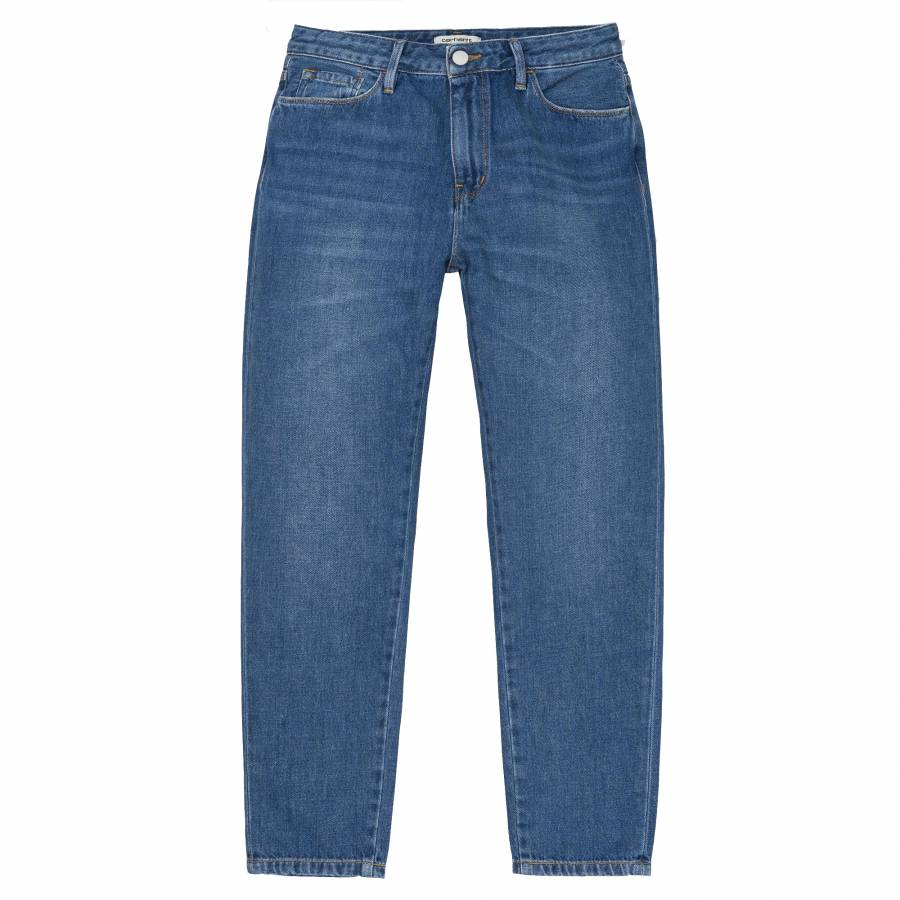 Carhartt W 'Domino Ankle Pant Jeans - Blue Prime S...