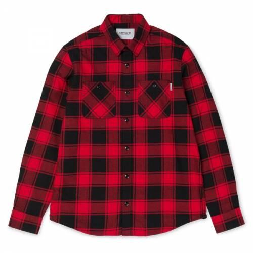 Carhartt L/s Josh Shirt - Josh Check/Blast Red