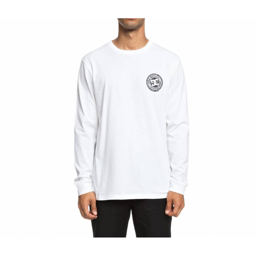 Dc Shoes Circle Star Long Sleeve Tee - Snow / Whit...