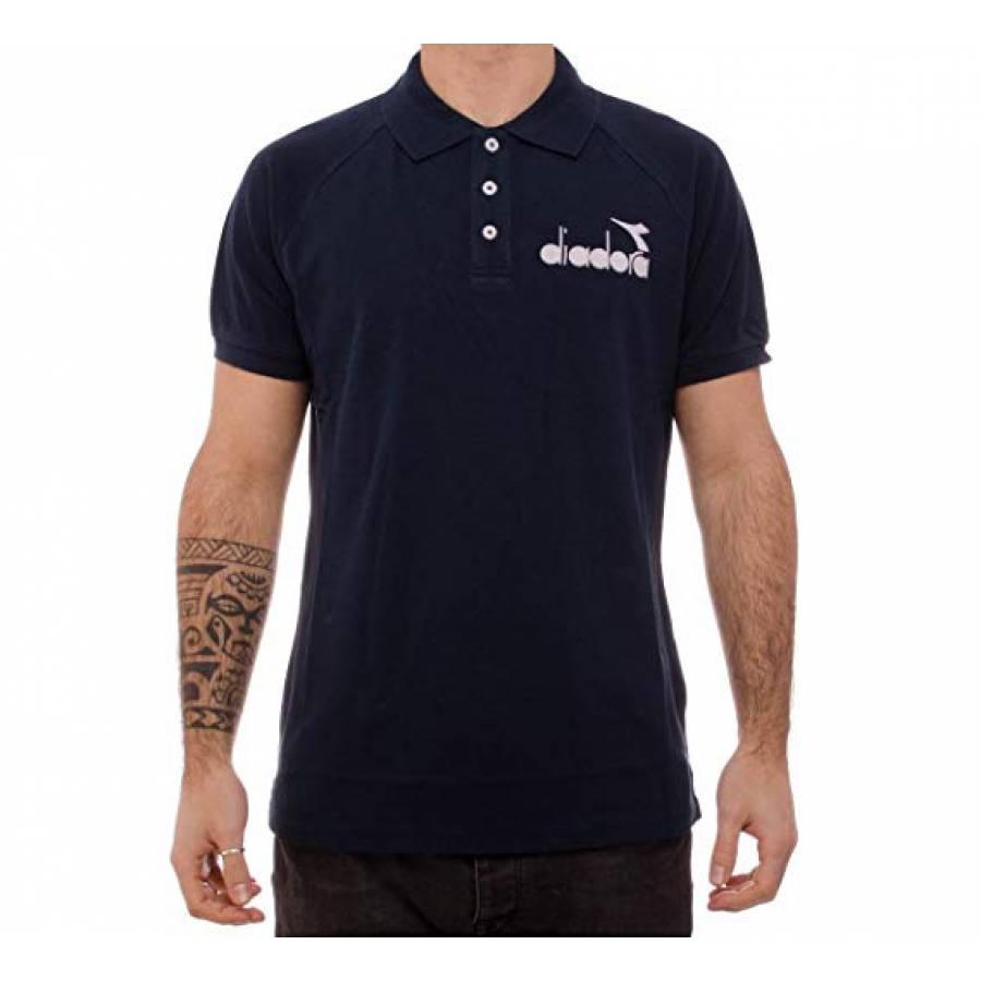 Diadora Polo 80S Men Polo Shirt - Blue