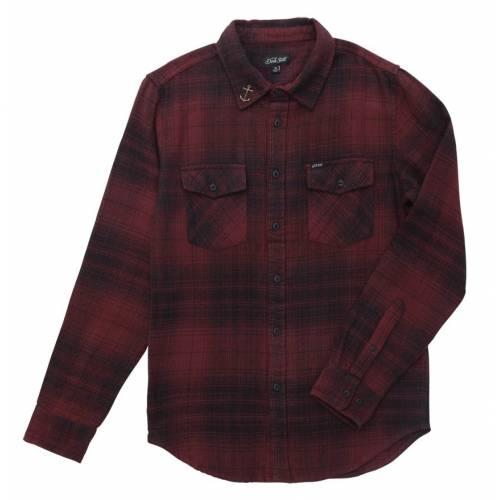 Dark Seas Salt Creek Shirt - Black/Oxblood