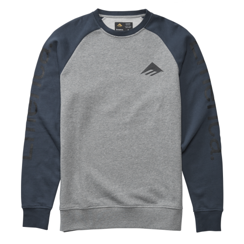 Emerica Tri Pure Crewneck Sweatshirt - Grey / Navy...