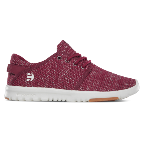 Etnies Scout Womens Shoes - Burgundy / Tan / Gum
