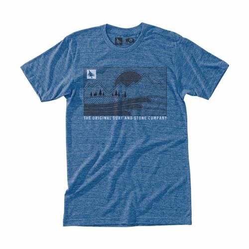 Hippytree Pattern T-shirt - Heather Blue