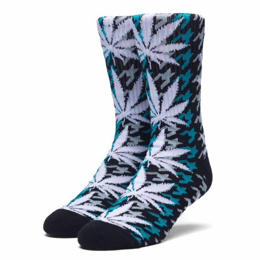 Huf Houndstooth Plantlife Crew Sock - Tropical Gre...