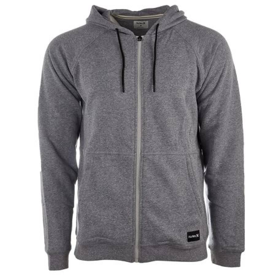 Hurley Crone Full Zip Fleece Hoodie - Grey Heather