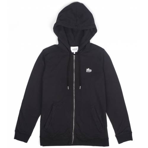 LASER BARCELONA BORNE HOODIE ZIPPER JACKET - BLACK