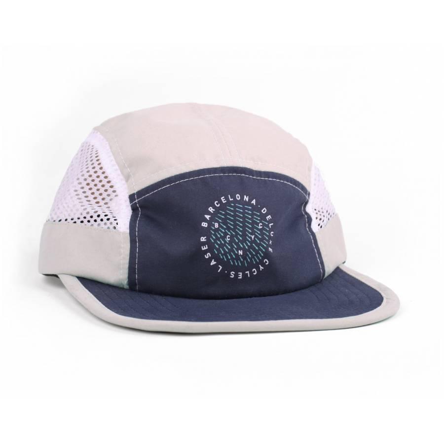 Laser Barcelona Hudson Packable 5 Panel Hat - Whit...