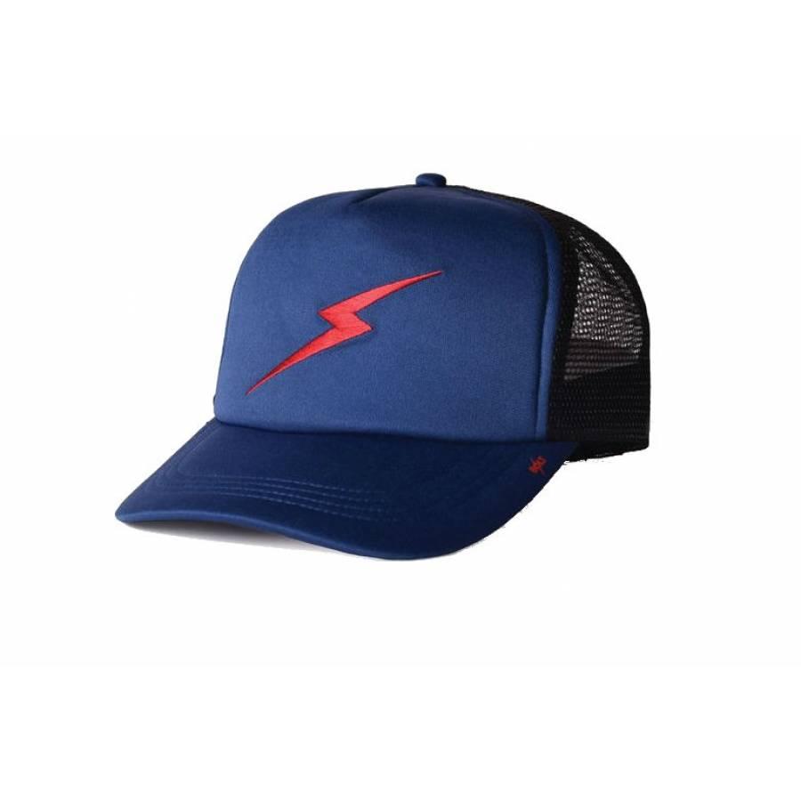 Lightning Bolt Forever Trucker Hat - Ensign Blue