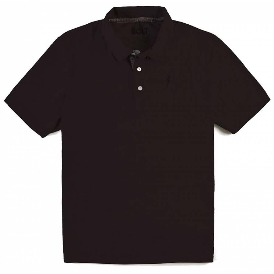 Lightning Bolt Embroidered Bolt Polo Shirt - Moonl...