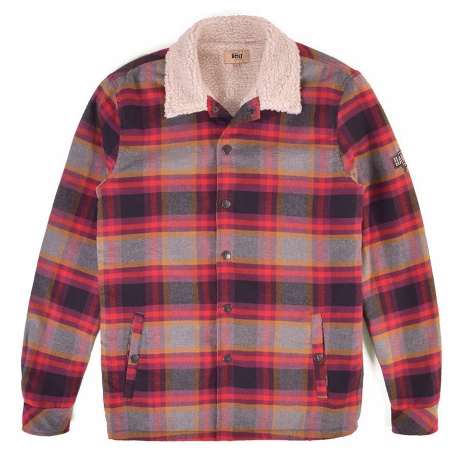 Lightning Bolt Yosemite Flannel Shirt Jacket - Uni...