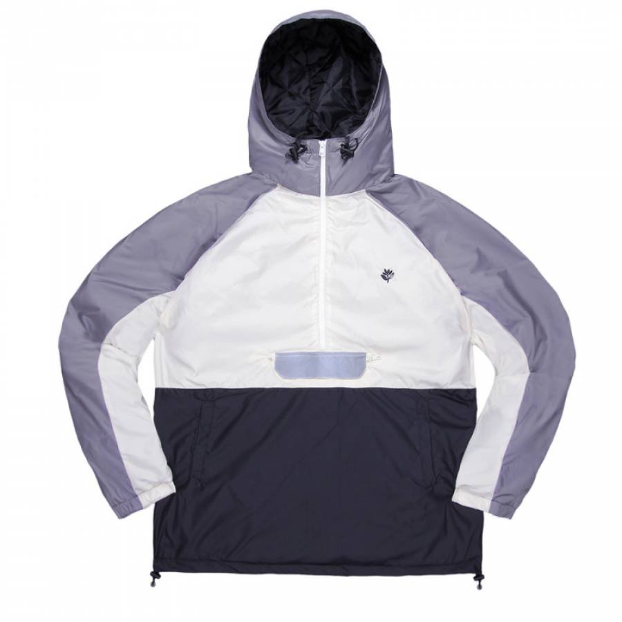 Magenta Belleville Jacket - Light Grey/Black/White