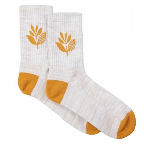 Magenta Socks Mid - Heather/Orange