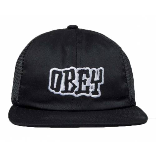 Obey Snapback Runnin Trucker Hat - Black