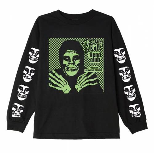Obey Misfits Fiend Club Hallow Basic Ls T-shirt - ...