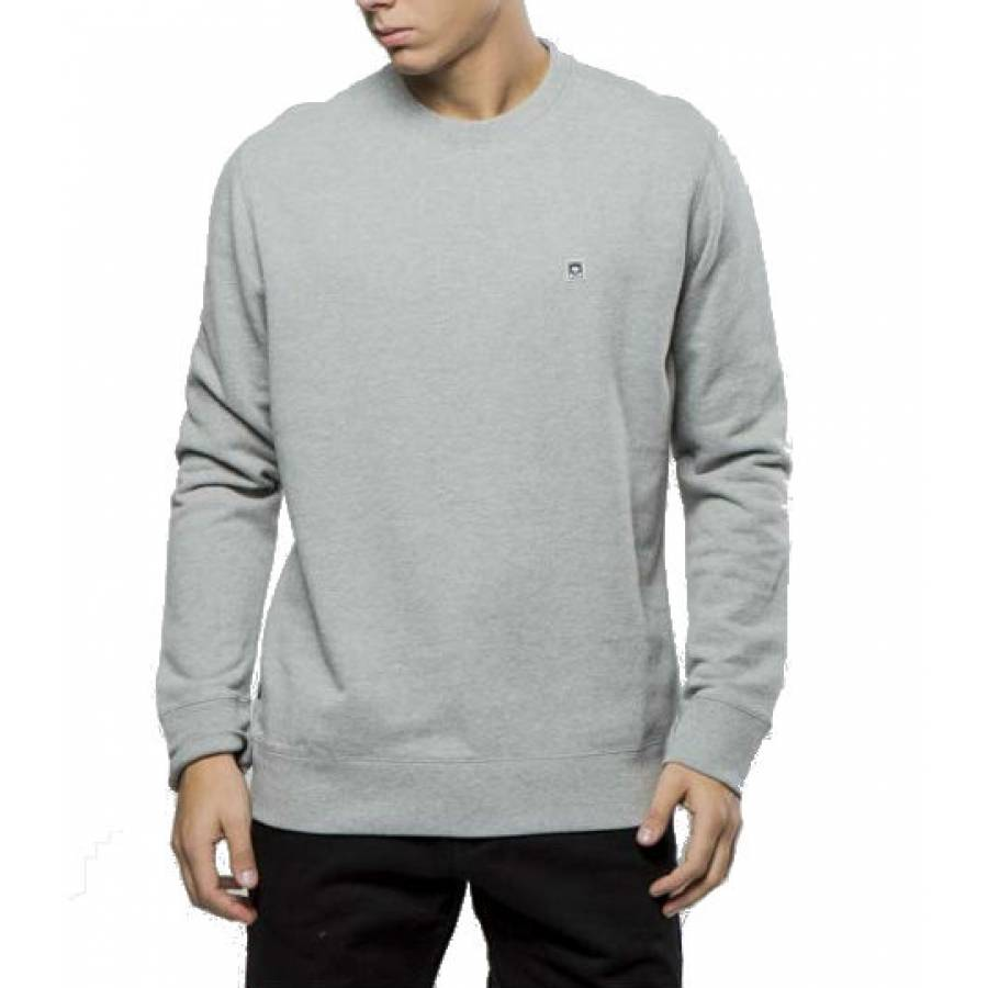 Obey Eighty Nine Icon Crewneck Sweatshirt - Heathe...