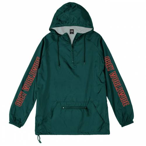 Obey Worldwide Outline Anorak Jacket - Dark Teal