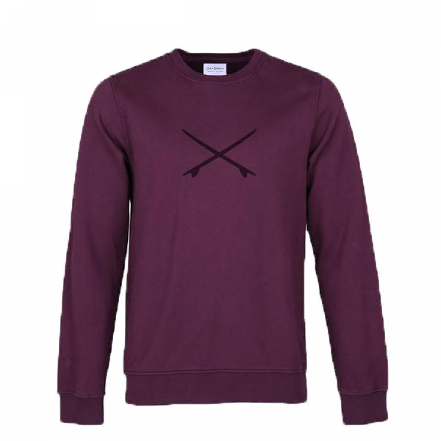 Oh Dawn Cross Crew - Burgundy