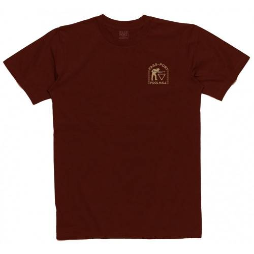 "Pass Port ""Pool Hall"" Embroidery Tee - B..."