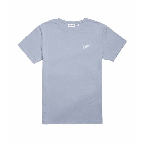 Rhythm Script T-shirt - Stone Blue