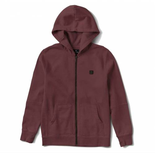 Roark Well Worn Zip Jacket - Burgundy