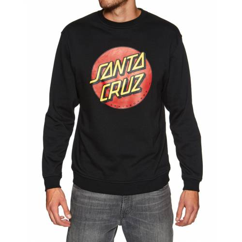 Santa Cruz Classic Dot Crew Sweatshirt - Black