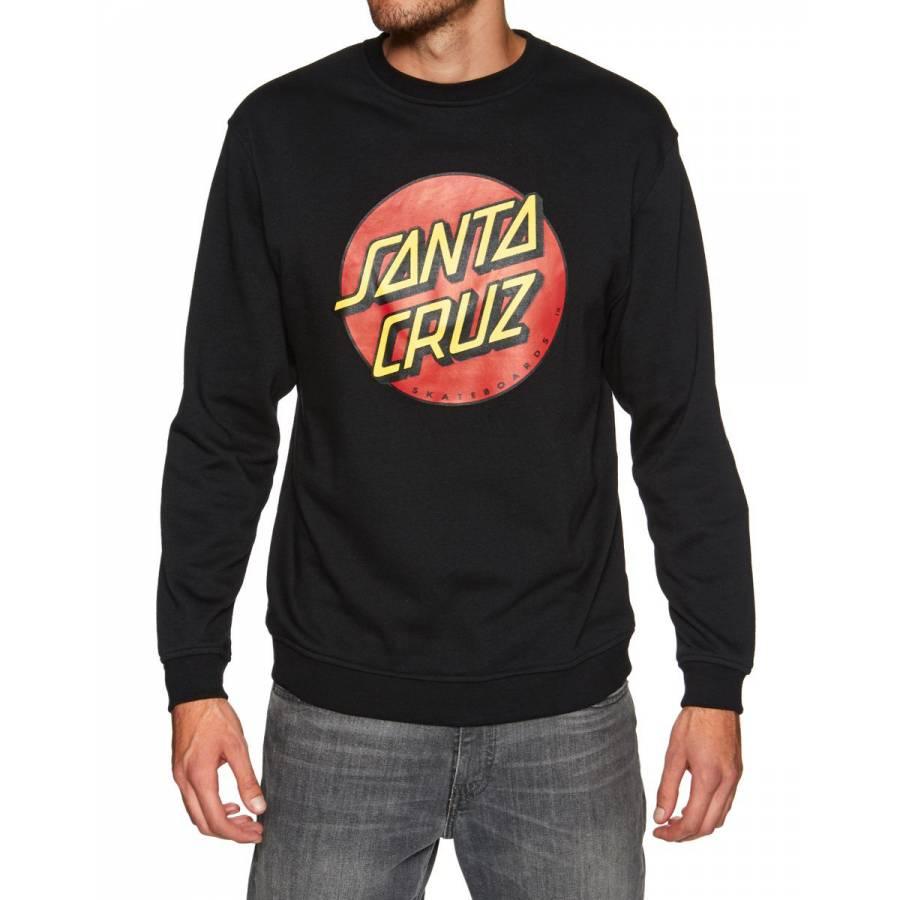 Santa Cruz Classic Dot Crew Sweatshirt - Black