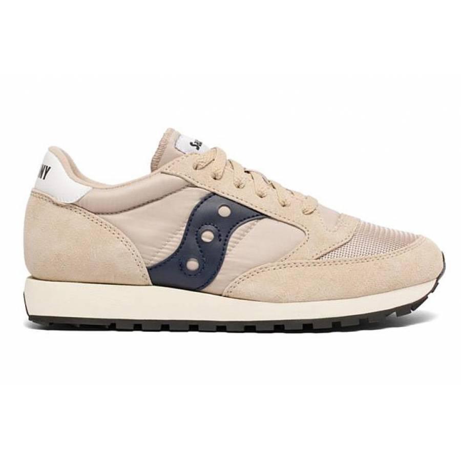 Saucony Jazz Original Vintage Shoes - Tan/Navy