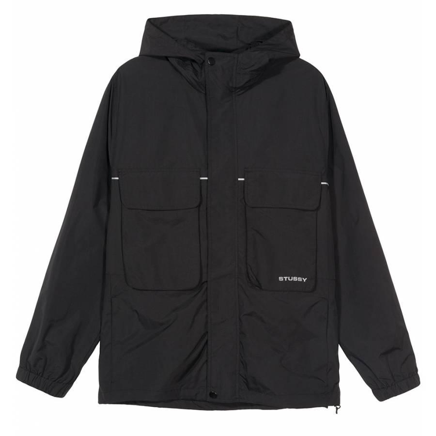 Stussy Big Pocket Shell Jacket - Black