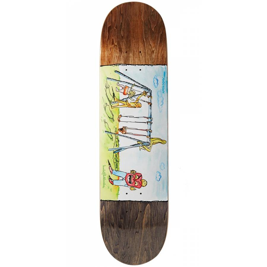 Krooked Anderson Swingin Skateboard Deck - 8.06&qu...