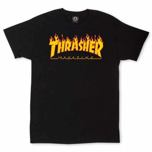 Thrasher Flame Logo T-Shirt - Preto