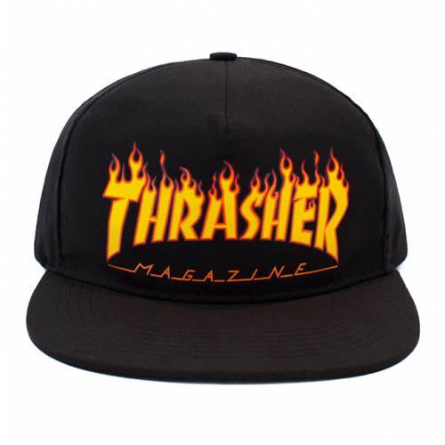 Thrasher Flame Snapback - Black