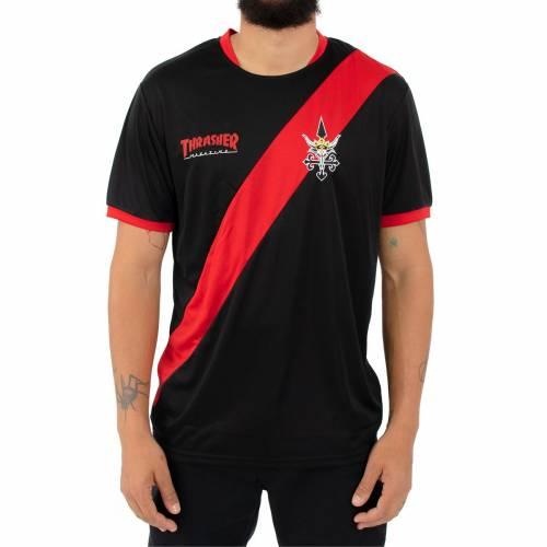 Thrasher Skategoat Futbol Jersey Shirt - Black/Red