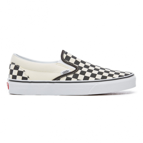 Vans Checkerboard Classic Slip-On Shoes - Black an...