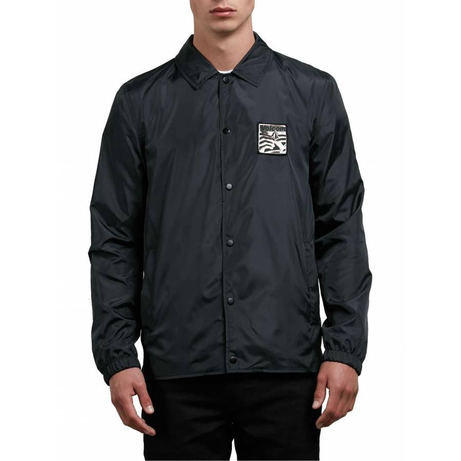 Volcom Brews Coach Jacket - Black / White