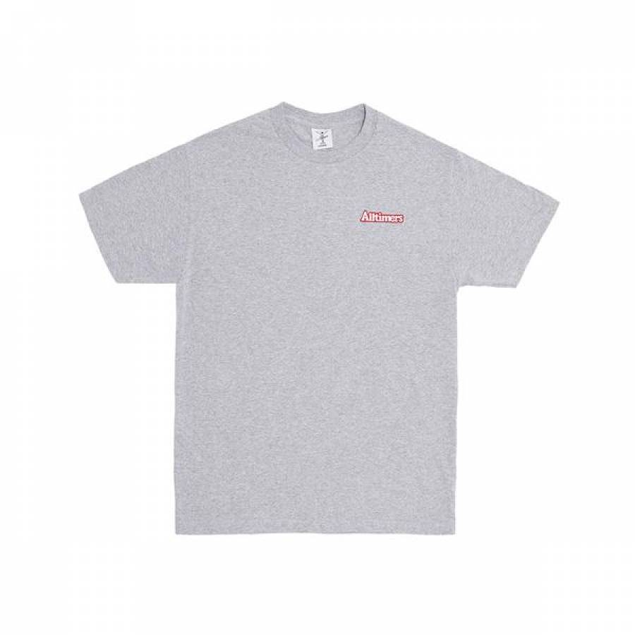 Alltimers Broadway Embroidered Tee - Heather Grey
