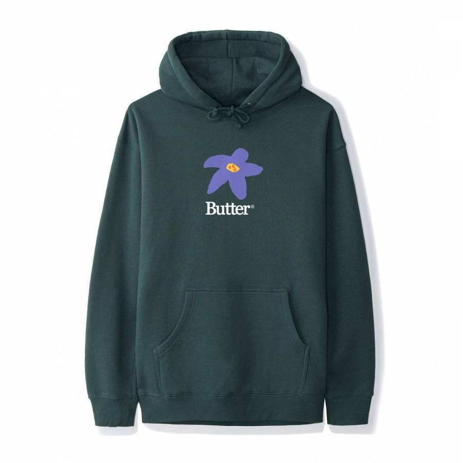 Butter Goods Flowers Pullover - Forest Green