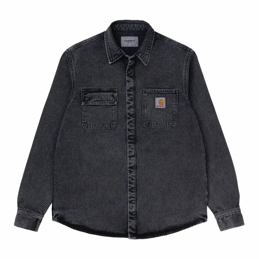 Carhartt Salinac Shirt Jacket - Black (Worn Washed...