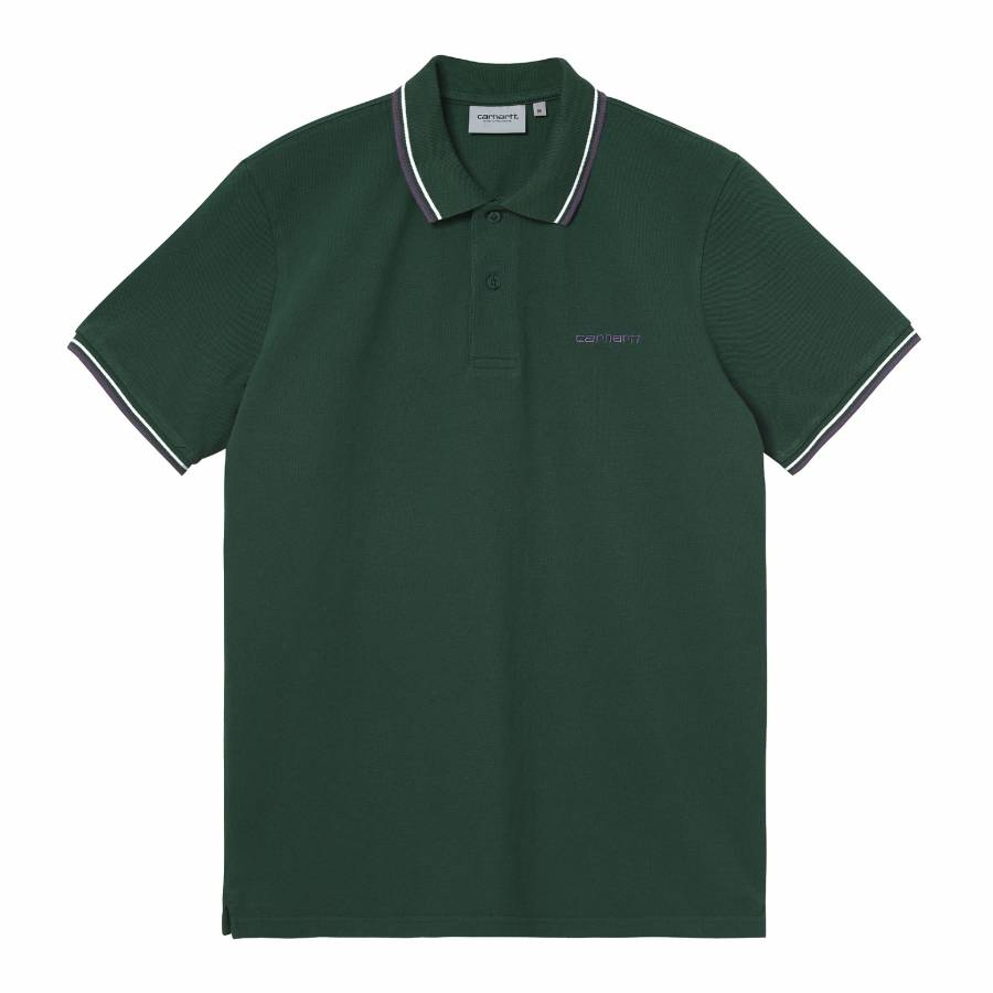 Carhartt S/S Script Embroidery Polo -  Treehouse /...