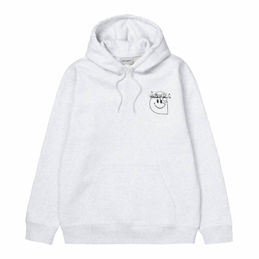 Carhartt Hooded Smiley Sweatshirt - Ash Heather / ...