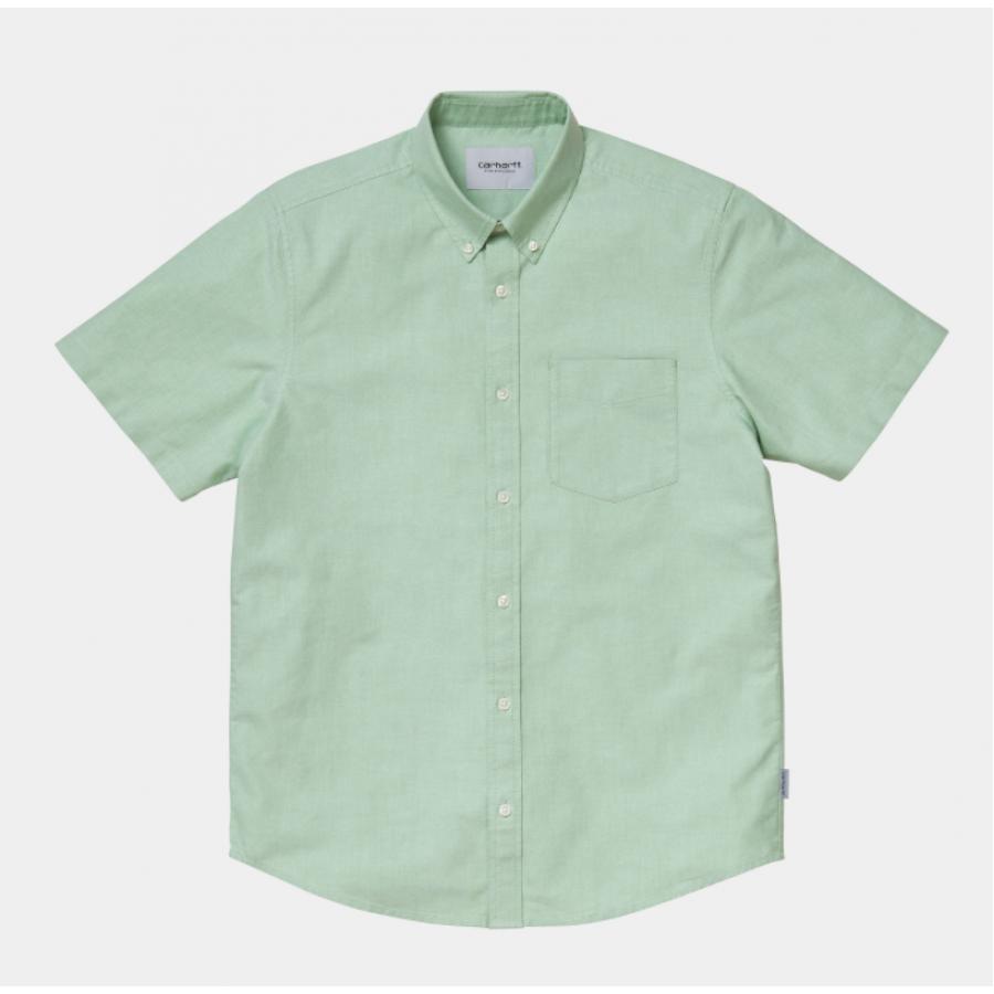 Carhartt S/S Button Down Pocket Shirt - Mineral Gr...
