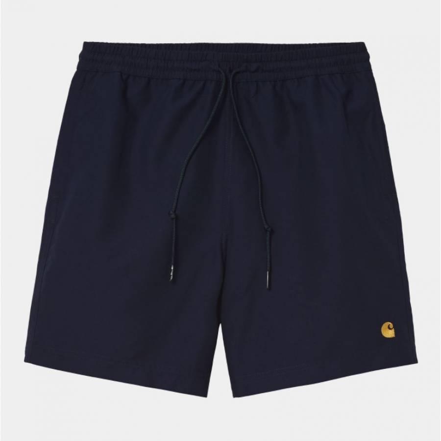 Carhartt Chase Swim Trunk Shorts - Dark Navy / Gol...
