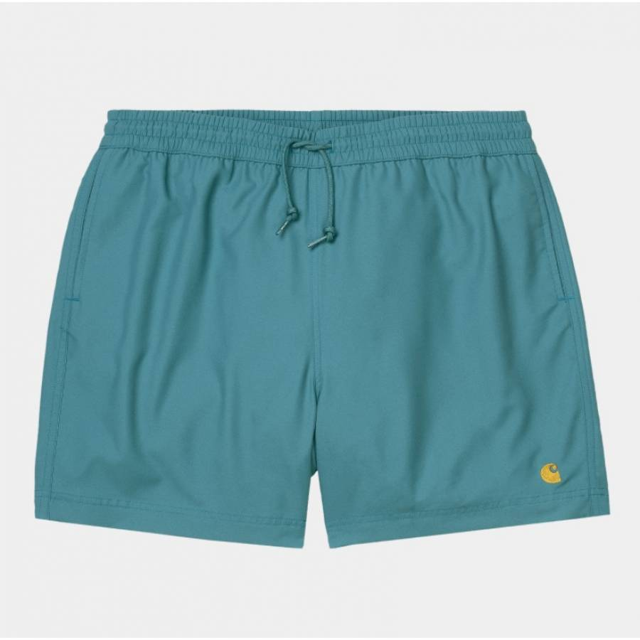 Carhartt Chase Swim Trunk Shorts - Hydro / Gold